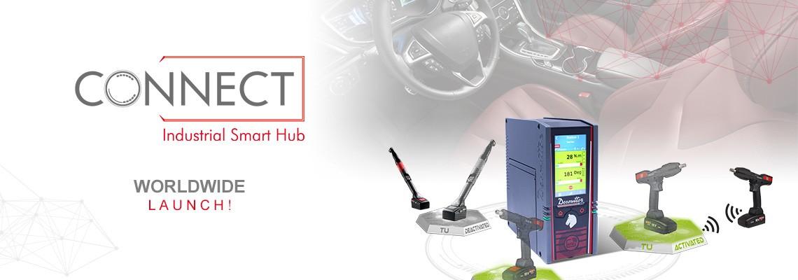 Wir sind stolz, unseren neuen Industrial Smart Hub namens CONNECT vorzustellen - eine Desoutter 4.0-Lösung!