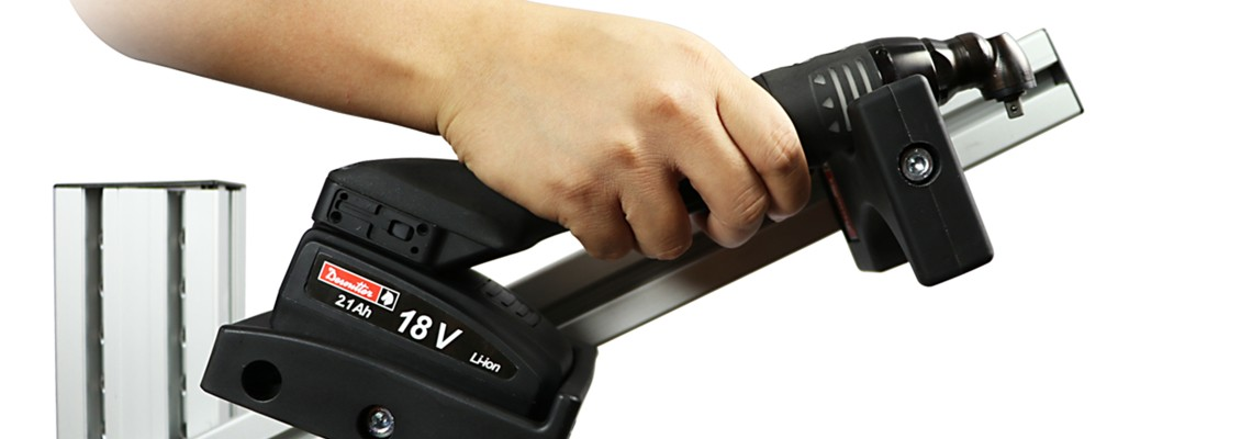 Flexibles Akkuwerkzeug für die Einhand-Montage