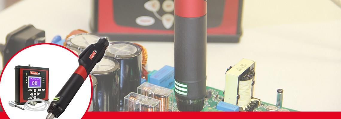 Für sehr niedrige Drehmomente mit Qualitätskontrolle und Prozessüberwachung  - Steuerung CVIXS, Elektroschrauber Nano Driver (ERXS), Messwertaufnehmer DSTxs