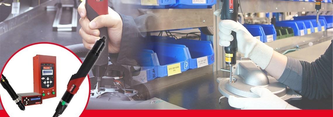 Entdecken Sie das Sortiment an elektrischen Schraubendrehern von Desoutter. Leistungsstark und einfach zu handhaben. Kontaktieren Sie uns für unsere elektrischen Schraubendreher SLK und Hochleistungs-Schraubendreher SLE.