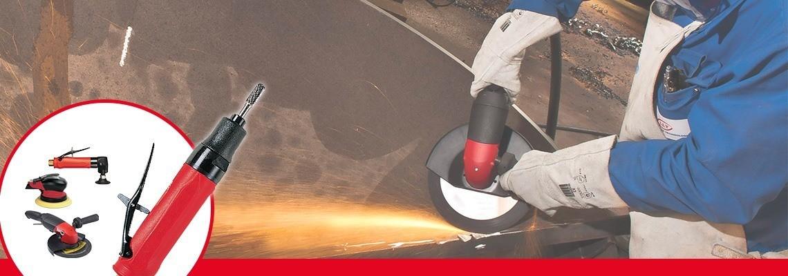 Unter unserem kompletten Sortiment an Pneumatikschleifmaschinen und - sandstrahlgebläse, entdecken Sie unsere pneumatische Schleifmaschinen mit heruntergedrückten Mittelscheiben. Lassen Sie sich ein Angebot erstellen oder fragen Sie nach einer Vorführung!