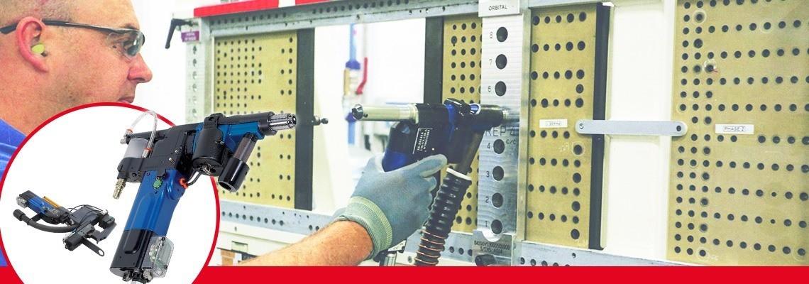 Die pneumatischen Bohrvorschubeinheiten von Seti-Tec sind speziell für halbautomatische Bohrungen in der Luftfahrtmontage entwickelt.